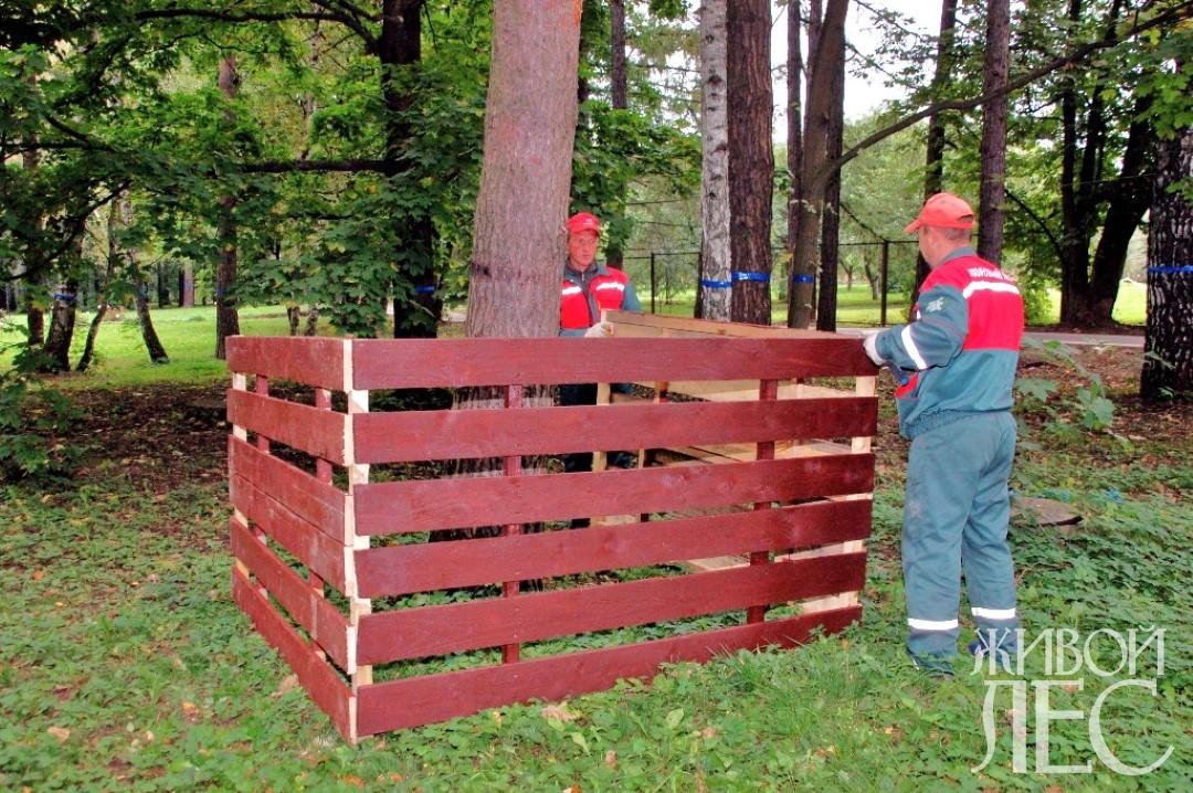 Деревья в зоне строительства следует защитить ограждениями